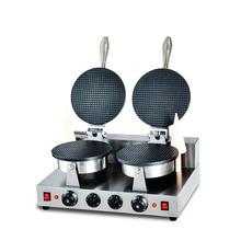 2600 Вт коммерческий двухголовый Электрический яичный аппарат для приготовления конусной пиццы яичный рулон Хрустящая Яичная конусная машина яйцо мороженое-рожок машина для пиццы