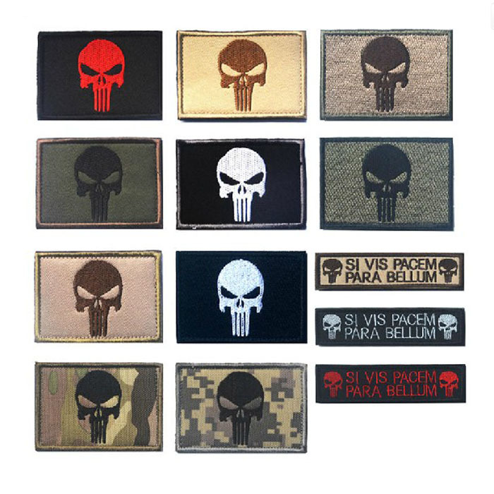 Hacker Outdoor Amazon Army Fans Chest Article Punisher Shoulder Emblem Velcro Cloth Label