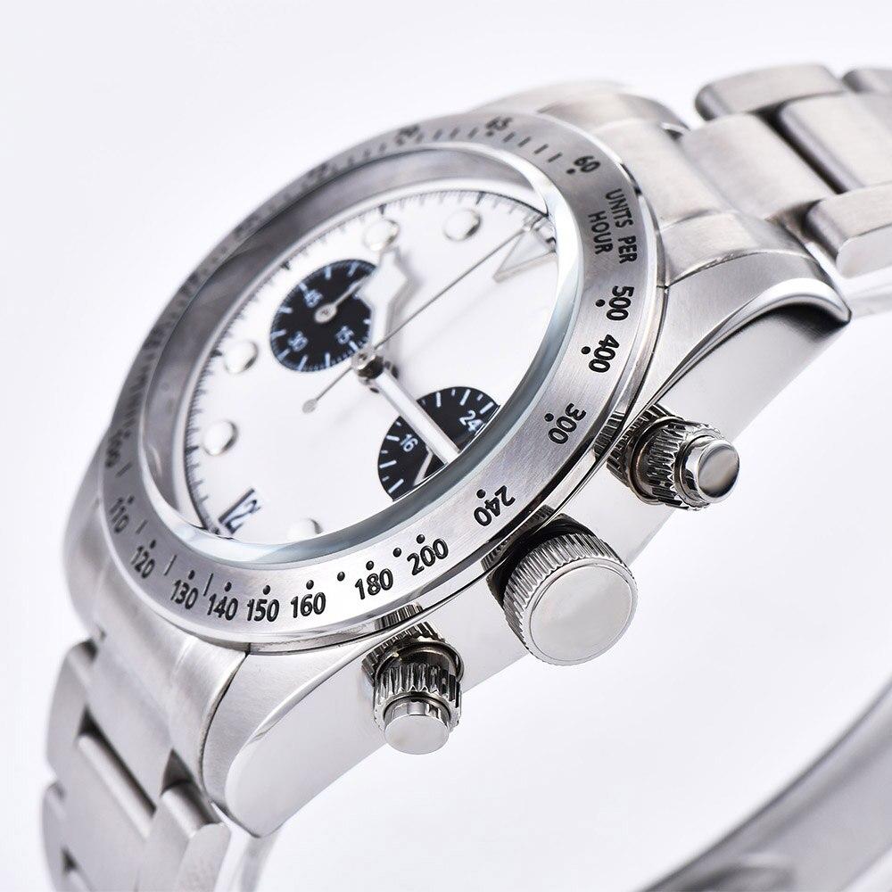 2019 новые мужские часы 41 мм Schwarz Bay 79350 хронограф кварцевые японские MIYOTA VK64 Move Мужские t 316L чехол из нержавеющей стали часы - 3