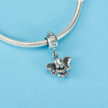 925 Sterling Silver DUMBO HANGING CHARM Pendant bead Fit pandora charms silver original Bracelet Bangles Jewelry making