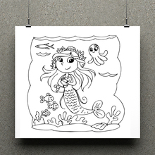 AZSG Cute mermaid Clear Stamps/seal for DIY Scrapbooking/Card Making/Photo Album Decoration Supplies