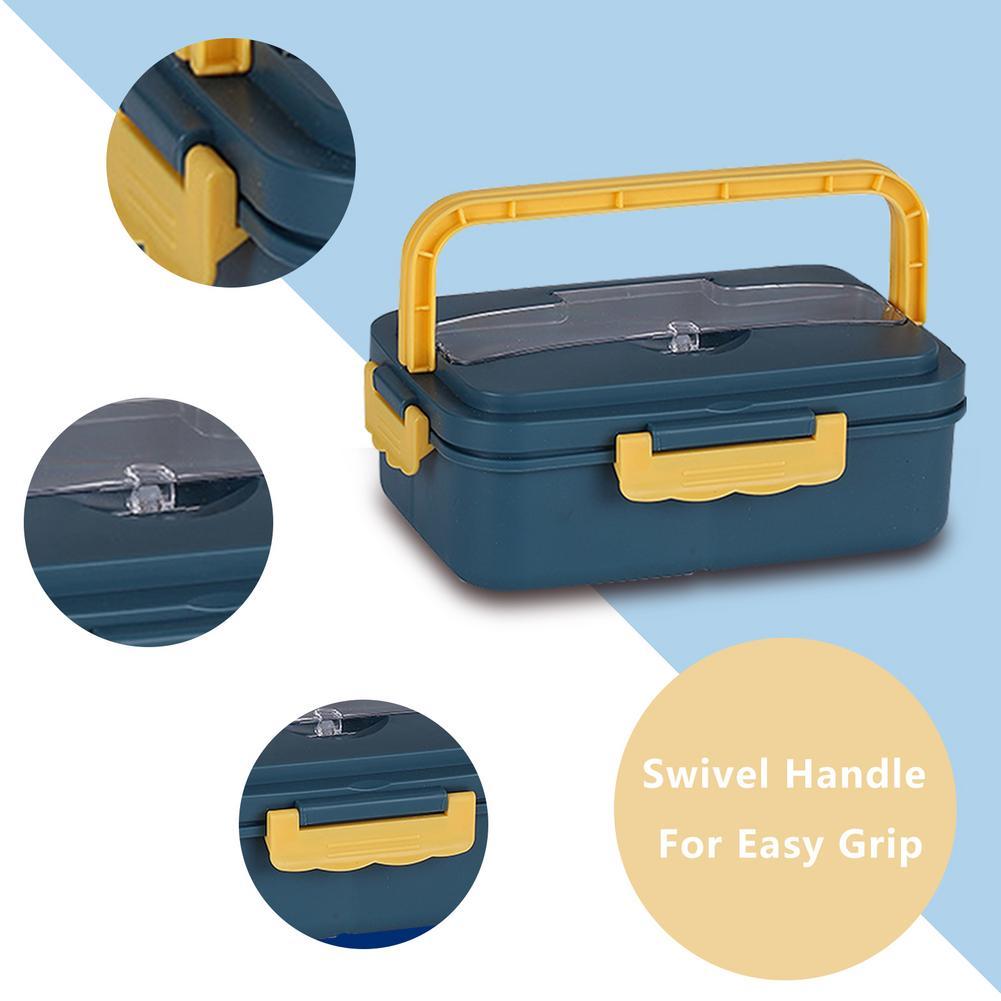Коробки для обедов микроволновая печь разделены портативный контейнер для бэнто коробка для студенческим пакетом Office Рабочий Еда хранения...