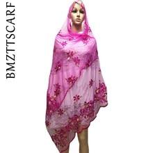 Африканский женский длинный шарф мусульманских женщин шарф из тюли 2,0*0,8 метров по продажам BM676