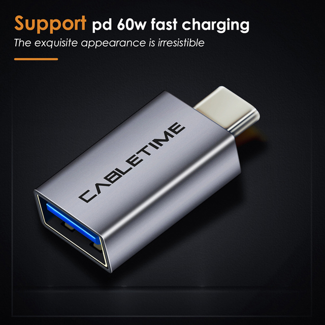CABLEIME Type C OTG Adapter USB3.0 A Female to Type-C Adapter Charging & Sync Converter for Mobile Phones Laptops Tablets C011 1