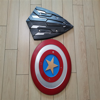 2pcs/set Avengers Endgame Captain America  2 Style Shield Steve Rogers Cosplay Prop Superhero Shield Halloween Party PU Props movie captain america 3 civil war captain americamasque mask cosplay prop steven rogers superhero latex helmet halloween party