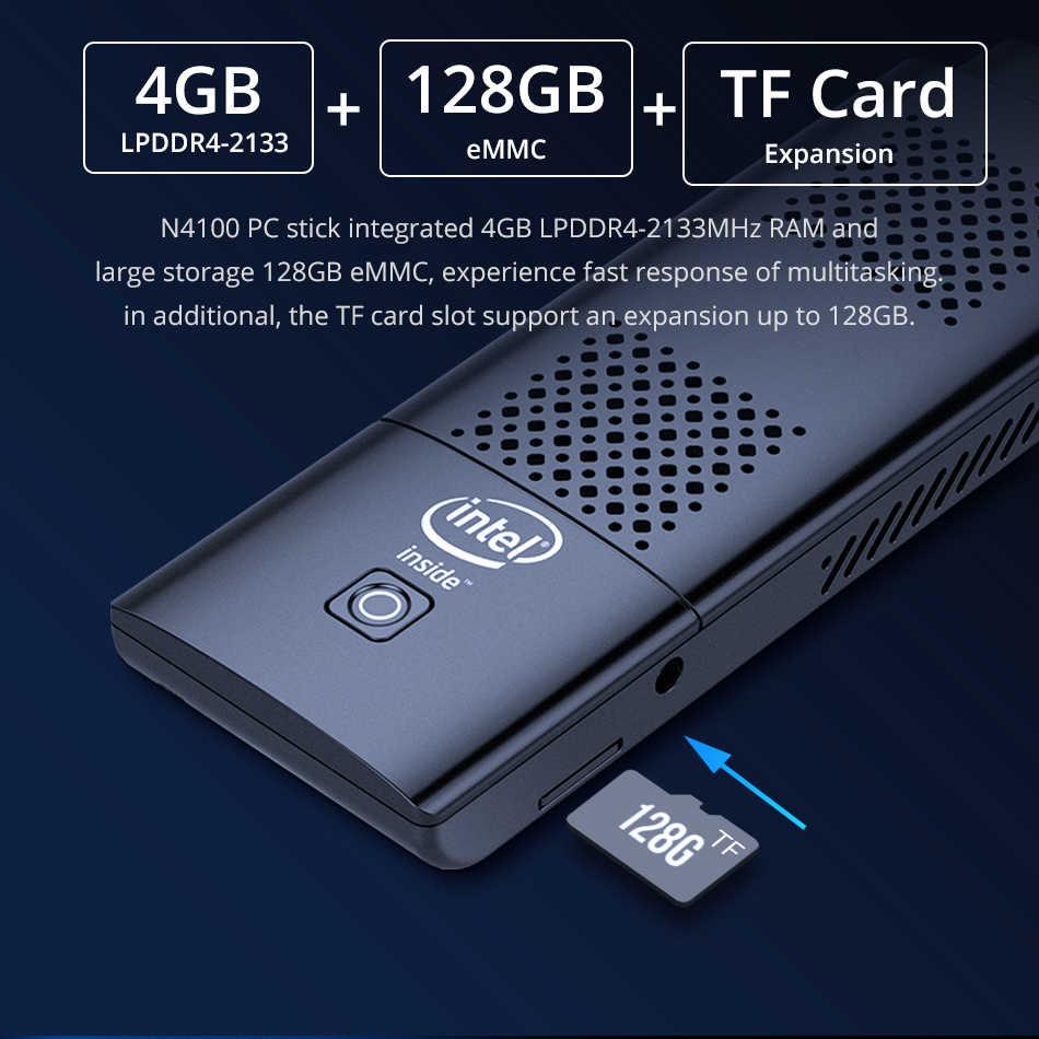 Vara do mini pc do núcleo do quadrilátero intel n4100 4gb lpddr4 128gb emmc 5.1 2.4g/5.0g wifi bluetooth 4.2 hdmi 2.0 4k 60hz 2xusb3. 0 windows 10