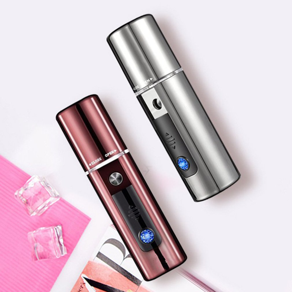 Hydrating Elf Spray Steam Face Portable Face Cold Sprayer Nano Spray Water Meter Hand-Held Face Humidifier face skin care tools image
