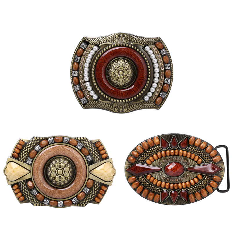 Western Bohemian Cowboy//girls Indian Rodeo Retro Bead Decoration Belt Buckle