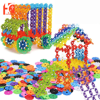 Snowflake Building Blocks Toy Brick Snow DIY Block Assembling Early Educational Learning Toy DIY Assembly Toys 54pcs diy flower building block toy garden building toys educational creative playset pretend toy for kids