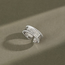 Chic 100% 925 sterling silver letters engagement rings for women fine jewelry, fashion ring female accessories