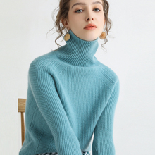 Hot selling style turtleneck fashion 100% cashmere sweater knitted sweater