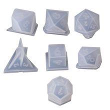 7 форм кости филе квадратный треугольник кости формы кости цифровые игры силиконовые формы