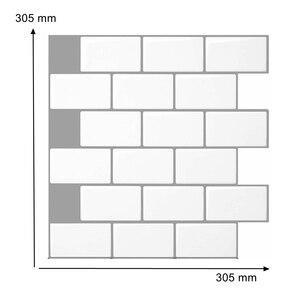 12*12 дюймов пилинг и палка щитки плитки водонепроницаемый кухонный декор белый метро мозаика наклейки для ванной комнаты RV номер