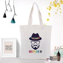 Иллюстрация холщовая вместительная сумка для покупок сумка на заказ Печать текстовый логотип DIY ежедневное использование экологическая многоразовая утилизация сумки