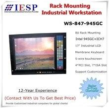Ordinateur industriel à support 8U, poste de travail industriel à puce 945GC, écran LCD 17 pouces, processeur LGA775, 2 go de RAM, disque dur de 500 go