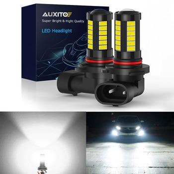 AUXITO 2x H11 H8 H10 LED Fog Lights 9005 9006 HB3 HB4 Car Lamp DRL for Hyundai Solaris Tucson Sonata Santa Fe Elantra Getz Verna