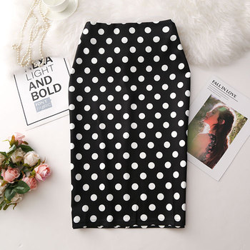 Women Skirts Sexy Print Flowers Pencil Skirt Casual Skirts Knee-Length Plus Size Faldas Mujer Moda Jupe Femme 4