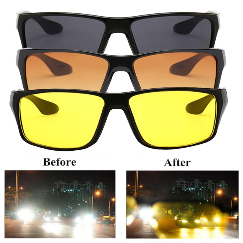 2019 New Unisex Sunglasses Glasses Driver Night Driving Riding Glasses HD Field Of View Sunglasses UV Protection Sunglasses