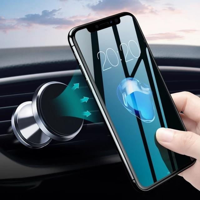 GETIHU voiture Support de téléphone magnétique évent montage Support de téléphone portable aimant GPS Support pour iPhone 12 11 Pro X Max Xiaomi HuaweI