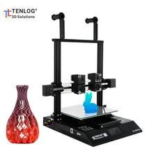 Tenlog TL-D3 pro impressora 3d independente dupla extrusora dupla z-eixo apoio filamento detecção retomar a função 300*300*350mm