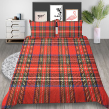 Thumbedding Plaid Bedding Set Scottish Fashion Duvet Cover Red Green King Queen Twin Full Double Single Classic Design Bed Set
