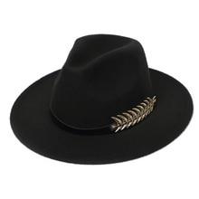 Church Hat Fedora-Hat Jazz Wool-Felt Gentleman Classic Winter Woman Mens Autumn