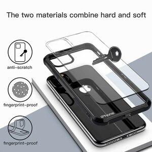 Image 4 - לניו apple iPhone 11 2019, עבור iPhone 11 פרו מקסימום מקרה עמיד הלם 360 תואר ברור להגן רך TPU + קשיח מחשב פלסטיק כיסוי