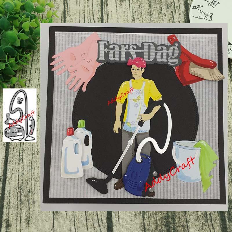Metal Cutting Dies Vacuum Cleaner Die Cut Scrapbooking Paper Craft Handmade Card Punch Art Cutter Decorative Stencil