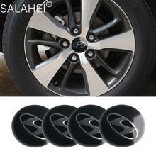Car Styling Wheel Hub Cover For Hyundai Sonata IX35 i20 i30 azera Elantra Accent Santa Tiburon Verna Wheel Center Caps Decals