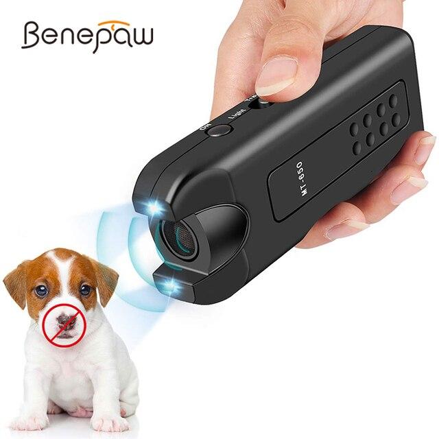Benepaw Ultrasonic Dog Repeller Efficient Anti Bark Dog Deterrent Pet Behavior Training Safe Stop Barking Device Control