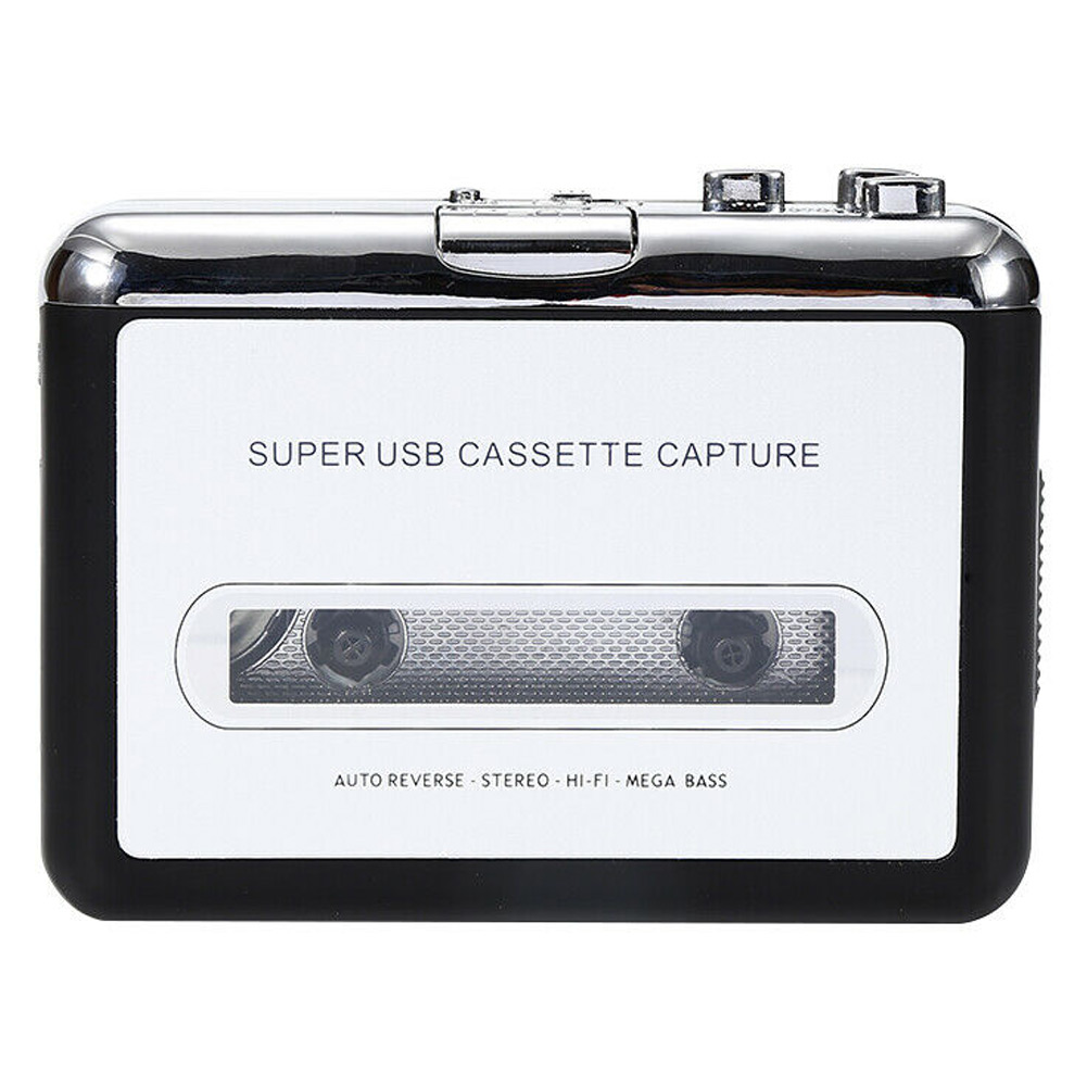 USB Cassette To MP3 Converter Capture Portable Audio Tape-to-MP3 Music Player Switcher JHP-Best