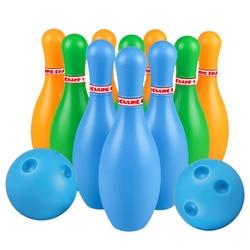 1 conjunto crianças brinquedos de tigela, plástico gutterball educacional engraçado, tigela, bola, brinquedos para crianças, bebês (cor aleatória)