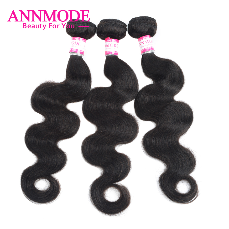 3/4 Bundles Brazilian Body Wave Hair Weave Natural Color Non-Remy Human Hair Extensions Free Shipping Annmode