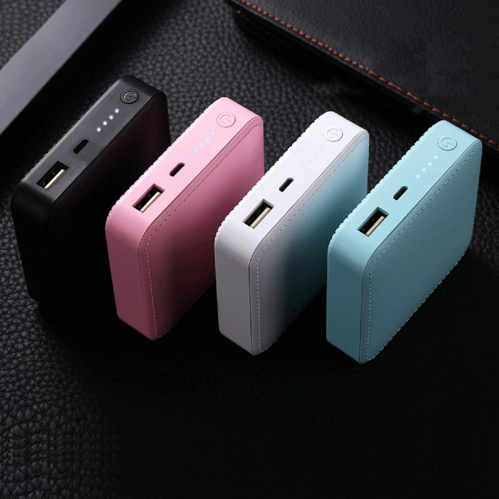 Small Size Soft PU Leather External Power Bank 6000mAh Outdoor Travel Battery Charger Power Supply for <font><b>Smartphones</b></font> image