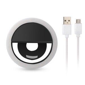 Image 2 - Rovtop USB LED Selfie Ring LightสำหรับIphoneเสริมแสงSelfieเติมแสงสำหรับโทรศัพท์