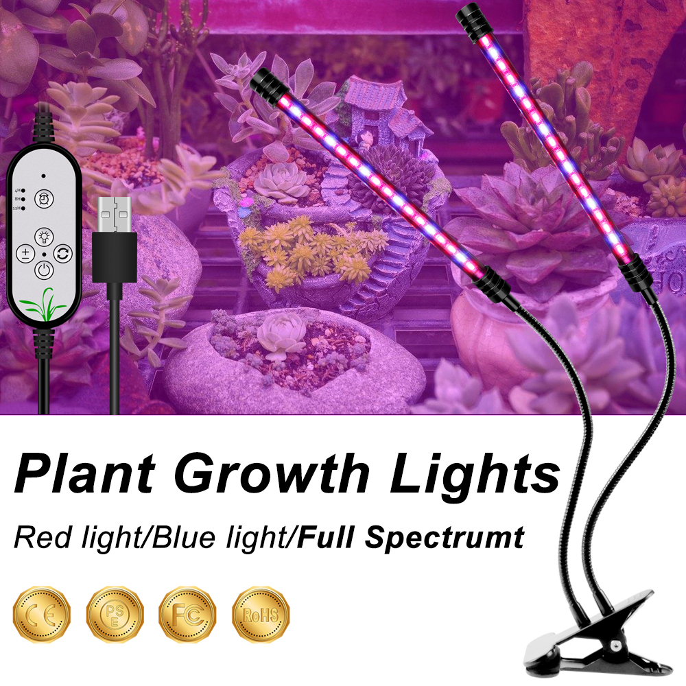 LED Plant USB Light Indoor Lights Full Spectrum LED Grow Lights Waterproof Lights For Plants Flower IR UV Growing Lamp Growbox