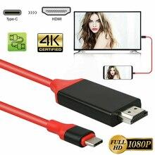 Larryjoe 2M USB C 3.1 Sang HDMI 4K Adapter Cáp Type C To HDMI Cho MacBook Samsung galaxy S9/S8/Note 9 Huawei USB C HDMI