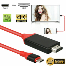 Larryjoe 2m USB C 3.1 HDMI 4K adaptörü kabloları tipi C MacBook için HDMI kablosu için Samsung galaxy S9/S8/not 9 Huawei USB C HDMI