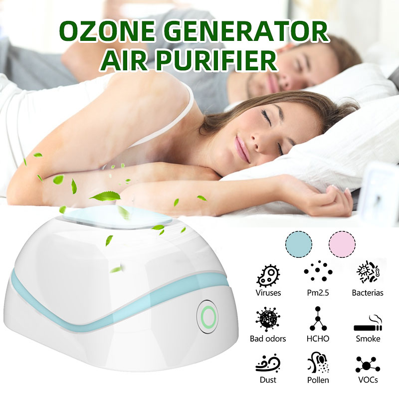 Mini Ozone Generator Deodorizer Air Purifier USB Rechargeable Fridge Cabinet Bedroom Purifier Portable Small Space Clear Odor