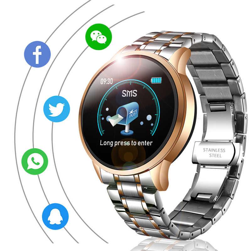 LIGE Dây Thép Không Gỉ Đồng Hồ Thông Minh Nam Theo Dõi Nhịp Tim Áp Thể Thao Chống Thấm Nước Đồng Hồ Thông Minh Smartwatch Cho Android IOS