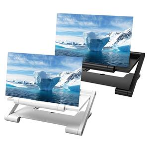 Lupa de pantalla 3D para teléfono móvil, soporte plegable para tableta o teléfono, amplificador de vídeo estereoscópico, proyector de escritorio para teléfono móvil