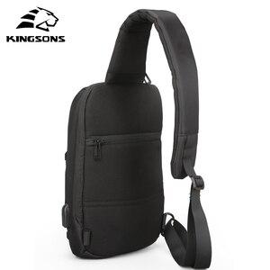 Image 2 - 10% Offร้อนขายKingsons 10.1นิ้วกระเป๋าเป้สะพายหลังสำหรับชายCasual Crossbodyกระเป๋าLeisureเดินทางไหล่กระเป๋าเป้สะพายหลัง