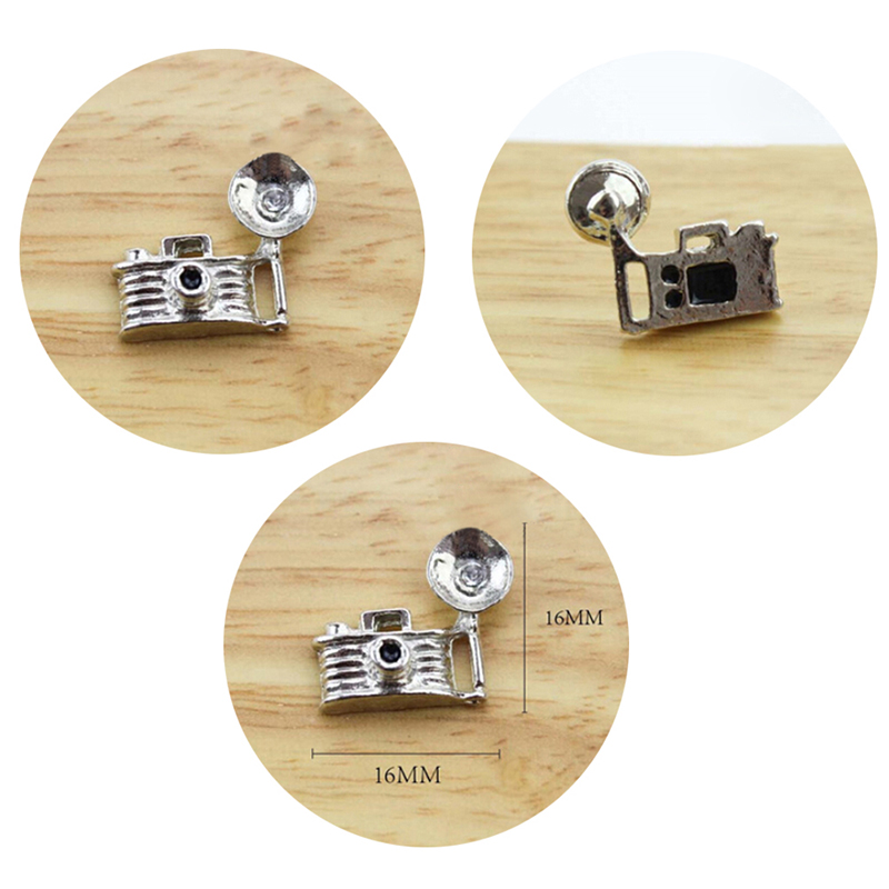 1/12 Dollhouse Miniature Accessories Mini Metal Camera Simulation Furniture Model Toys For Doll House Decoration