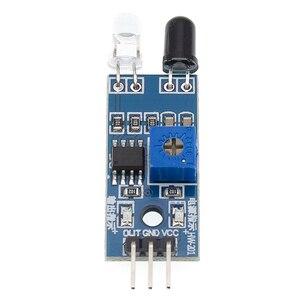 Image 1 - 100 sztuk na podczerwień czujnik unikania przeszkód moduł samochód zdalnie sterowany 3 przewodowy odblaskowy fotoelektryczny