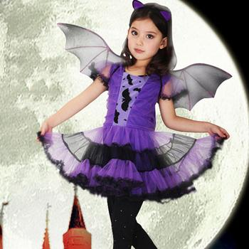 Girls Purple Bat Vampire Princess 1