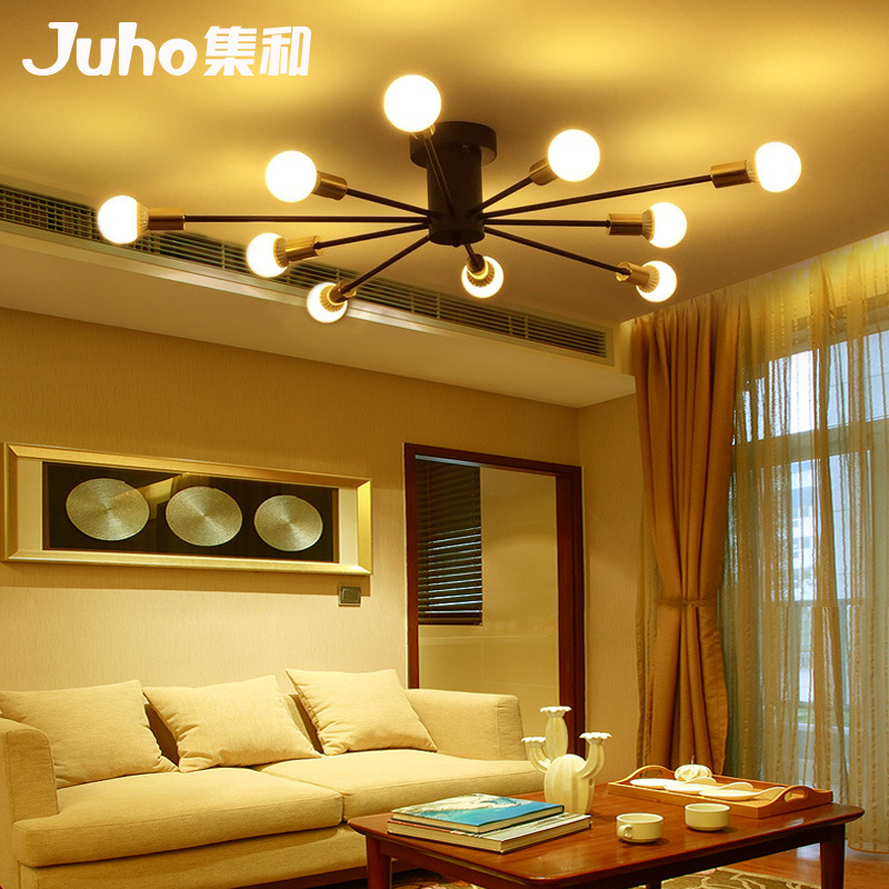 Northern European-Style American-Style Ceiling Lamp Modern Minimalist Master Bedroom Lamp Living Room Lights Creative Light Libr