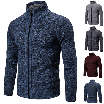 Mens Sweaters Autumn Winter Knitted Cardigan Fashion Casual Clothes Warm Fleece Sweaters kids children sweaters winter 2020 casual turtleneck knitted sweaters for girls warm boy sweaters cotton girls cardigan clothes