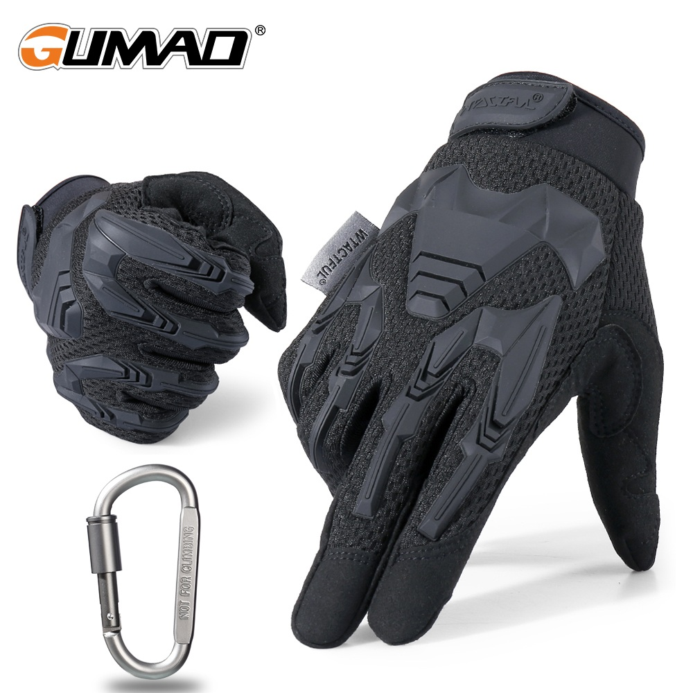 Outdoor Cycling Tactical Full Finger Gloves Military Army Shooting Airsoft Bicycle Combat Hunting Hiking Protective Gear Men
