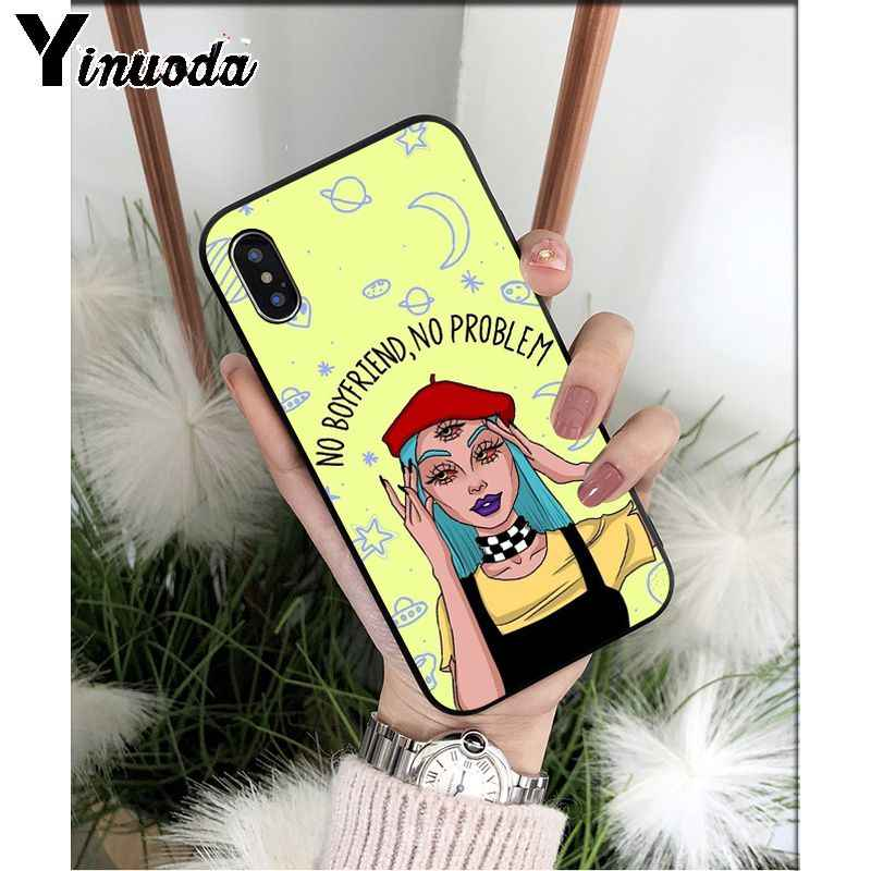Yinuoda Lustige Nette Alien UFO TPU Weichen Silikon Telefon Fall Abdeckung für iPhone 8 7 6 6S Plus 5 5S SE XR X XS MAX Coque Shell