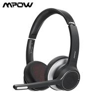 Upgarded Mpow-auriculares inalámbricos con Bluetooth, audífonos con cable CVC8.0, cancelación de ruido, micrófono silencioso de 3,5mm, para teléfono móvil, HC5